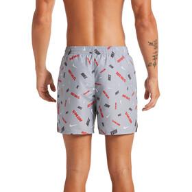 "Nike Swim Logofetti Breaker 5"" Volley Shorts Heren, lt smoke grey"